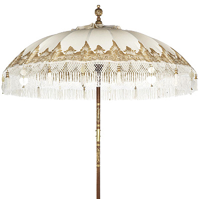The Urban Garden parasole in gold canvas