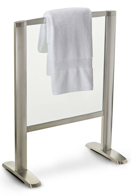 thermique free standing glass towel warmer Towel Warmer from Thermique   the new Free Standing Glass Towel Warmer