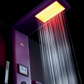 Thermostatic Shower Column with Hydrotherapy, Chromatherapy, Radio by Hafro – new Etoile