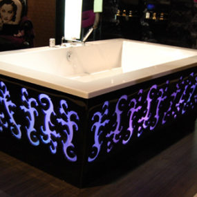 Backlit Bathtub by THG – new Arabesque