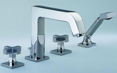 thg beluga cross handle tub filler New THG Paris Beluga contemporary faucet line