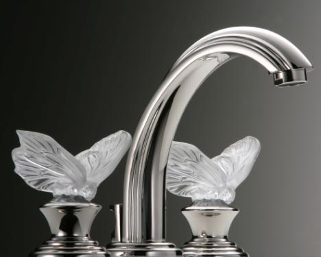 thg lalique butterfly set faucet Cristal de Lalique Collection by THG Paris   The Art of Crystal