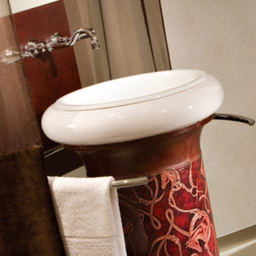 THG Paris Environment Hermes Leather Pedestal Sink