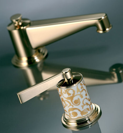 thg paris froufrou lav faucet handle THG Paris Froufrou Faucet Collection by Pierre Yves Rochon