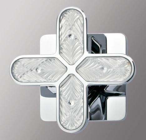 thg paris profil lalique crystal handle THG Paris Profil Lalique Bath Faucet Collection by Jamie Drake (with Lalique crystal)