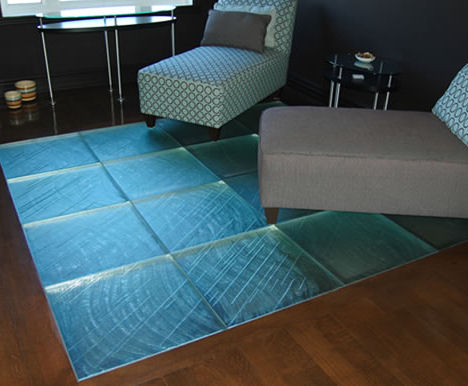 Glass Tile Floor From Thinkglass Walking On Glass Is A New Experience