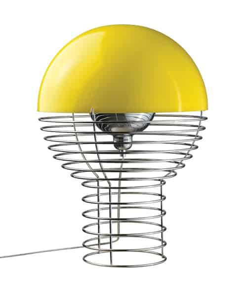 timeless lamps wire verner panton verpan 2 Timeless Lamps   Wire lamp by Verner Panton
