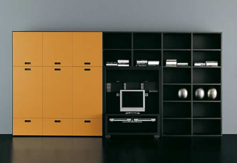 tisettanta metropolis wall unit yellow