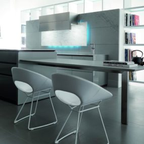 Kitchen with LED Illumination from Toncelli creates a mood