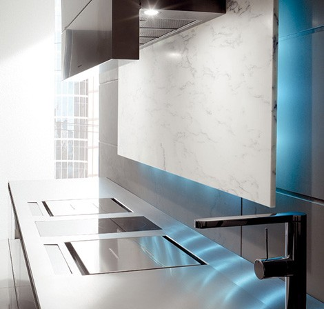toncelli kitchen essential 5 Kitchen with LED Illumination from Toncelli creates a mood
