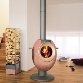 Contemporary Wood Stove by Tonwerk – T-Eye Stove