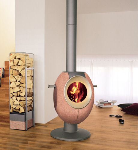 tonwerk stove t eye pink Contemporary Wood Stove by Tonwerk   T Eye Stove