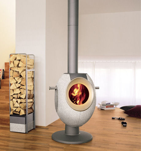 tonwerk stove t eye Contemporary Wood Stove by Tonwerk   T Eye Stove