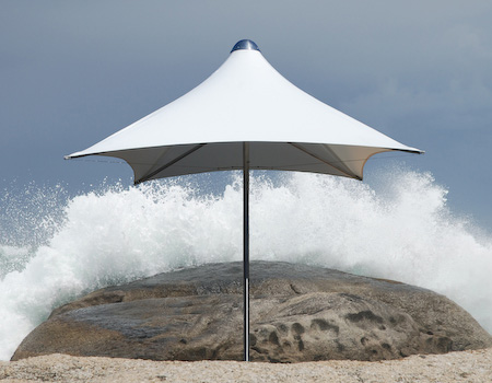 Tradewinds Tornado parasol in white Ferrari PVC fabric