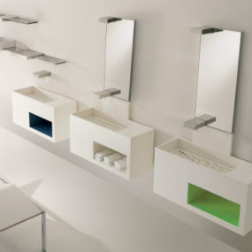 Modern Bathroom by Toscoquattro – the Concerto bathroom with decorative panels