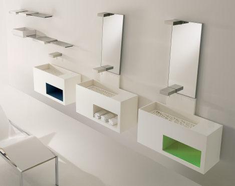 toscoquattro concerto bath vanity Modern Bathroom by Toscoquattro   the Concerto bathroom with decorative panels