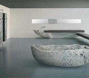 Modern Italian bathroom suite from Toscoquattro – the Le Acque bathroom