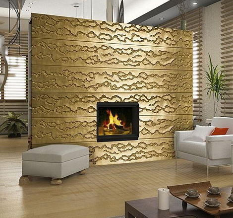 totalstone decorative panel gold nitrate 1 Interior Decorative Paneling for Walls – modern wall panels by Total