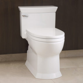 The TOTO Soiree Toilet – sculpted geometric design  extremely low maintenance toilet