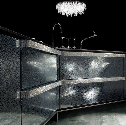 toyokitchen kitchen ino swarowski 1 Swarovski Crystals Kitchen Design from Japanese Toyo Kitchen – Ino