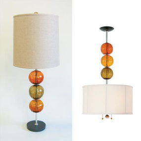 Hand-blown glass lamp by Tracy Glover – made to order glass lamps