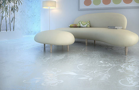 transparent house concrete art floor Concrete Art Floor from Transparent House   Beautiful and Practical flooring