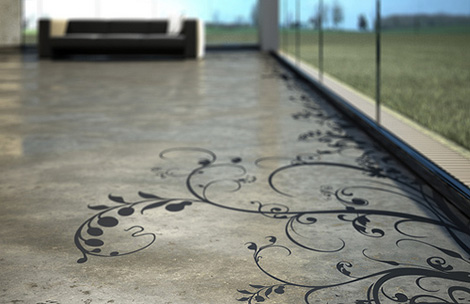 Transparent House Concrete Art Grey polished floor