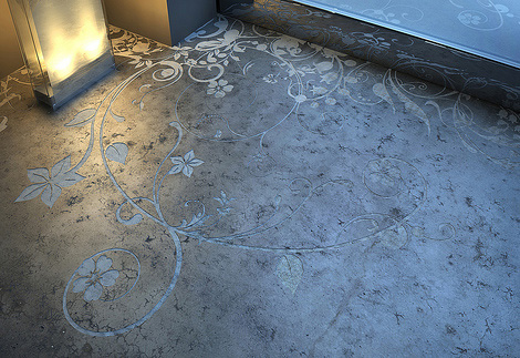 transparent house concrete art Concrete Art Floor from Transparent House   Beautiful and Practical flooring