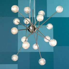 Contemporary Pendant from Trend Lighting – Galaxia 33″ W 16-Light Pendant