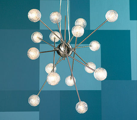 trend lighting galaxia pendant Contemporary Pendant from Trend Lighting   Galaxia 33 W 16 Light Pendant