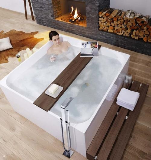 Mineral Bath Tub by Treos –  modern free standing tub