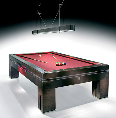 tresserra bolero nogal oscuro pool table Luxury European Furniture from Tresserra Collection   Luxury Pool Table