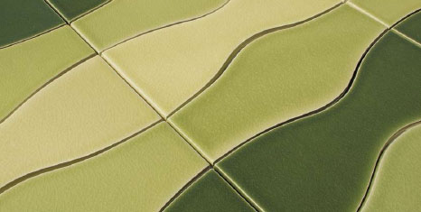Contemporary Tile Line from Trikeenan - Modulus Ebb and Flow tiles