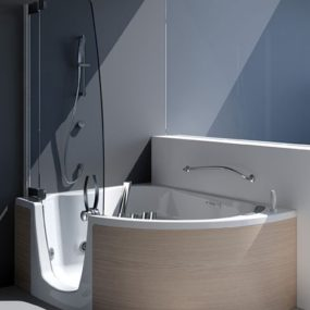 Tub Shower Combination from Teuco – corner tub