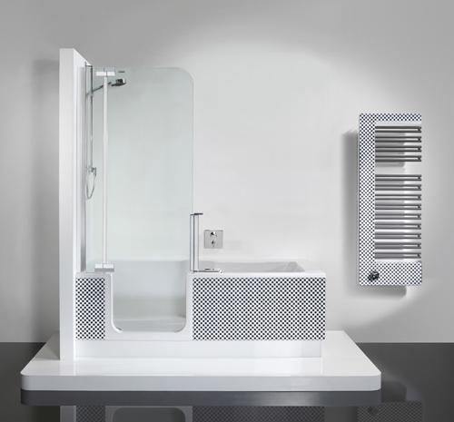 tub shower unit twinline2 artweger 2 Tub Shower Unit by Artweger