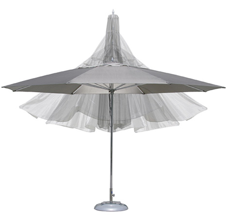 Tuuci Ocean Master umbrella in octagon shape with optional valance
