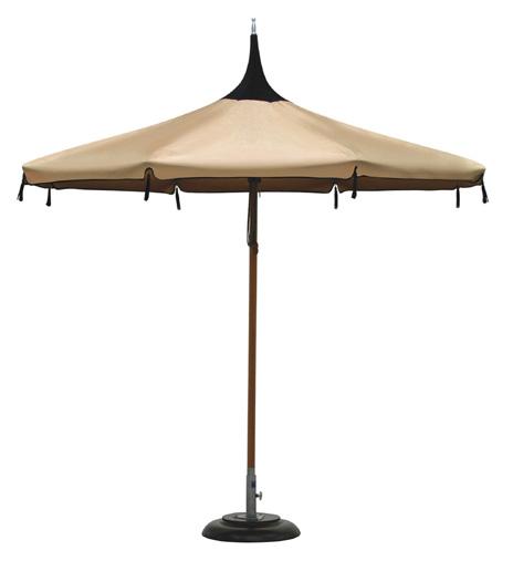 Tuuci Mistral Pagoda parasol in natural hardwood