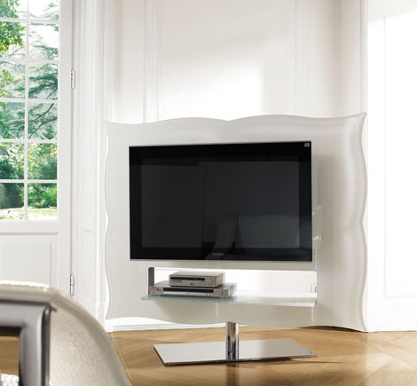 tv swivel stand emmei teatronuovo 2 TV Swivel Stand from Emmei   modern Teatronuovo stand