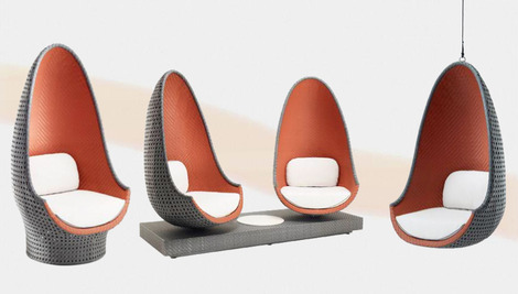 uber cool lounge chair by philippe starck play from dedon. Black Bedroom Furniture Sets. Home Design Ideas