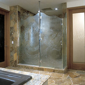 Glass Shower Doors – artistic custom doors by UltraGlas