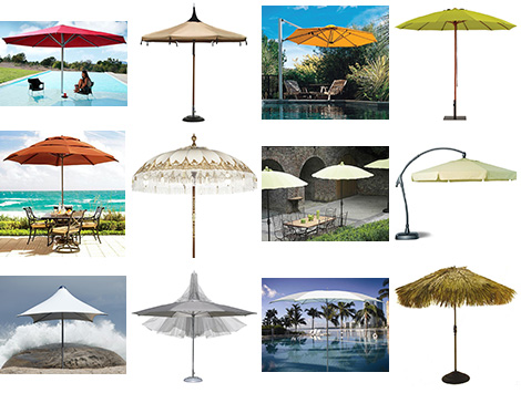 umbrellas parasols trend 2008 Patio Umbrellas and Outdoor Parasols   best picks for 2008 by designer Lillian Pikus