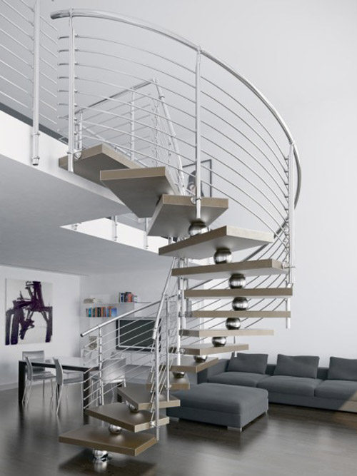 unique contemporary staircases faraone spiral 1 Unique Contemporary Staircases by Faraone