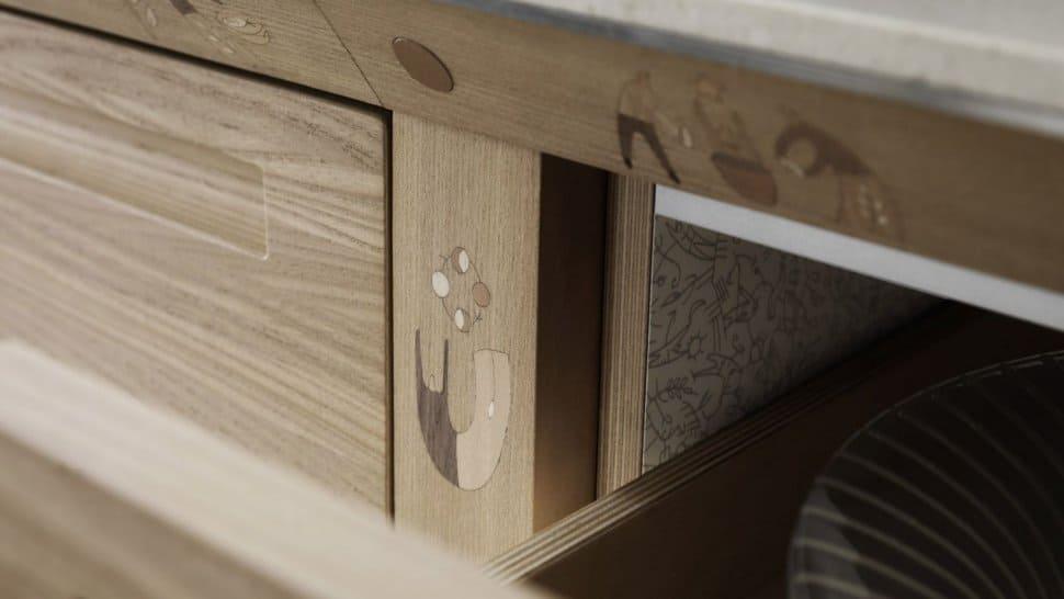 Inlay Wooden Craftsman Kitchen - Valcucine SineTempore