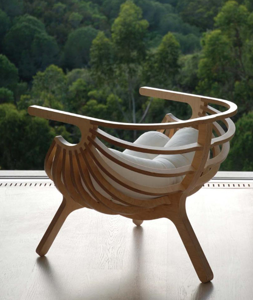 unique plywood chair branca 1 Unique Plywood Chair by Branca
