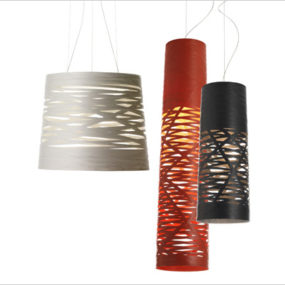 Unique Suspension Lights with Fiberglass Lamp Shades by Foscarini