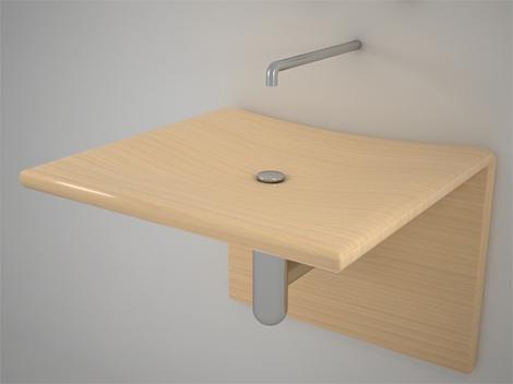 Unique Wood Design Ash Wood Sink