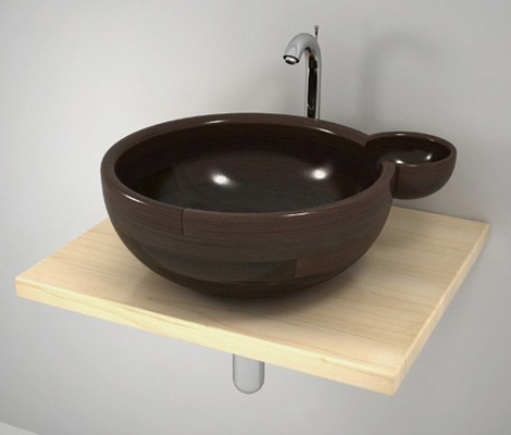 uniquewood washbasin maura 1 Unique Wash Basin by Unique Wood Design – Maura