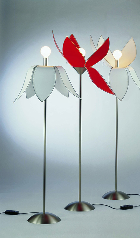 unusual floor lamps quasar tulip