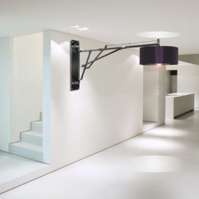 Unusual Wall Lighting with Large Lamp Shades by LM Studio