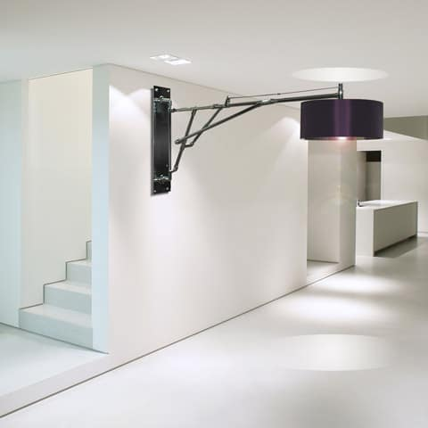 Unusual wall lighting with large lamp shades by lm studio aloadofball
